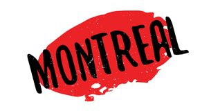 Montreal rubber stamp Stock Image