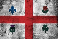 Montreal rusty and grunge flag illustration royalty free illustration
