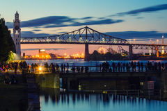 Montreal`s Old Port royalty free stock photography