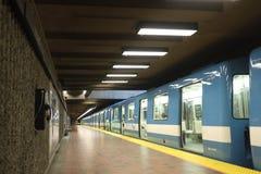 Montreal's Subway train Stock Image