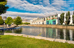 Montreal scene Bonsecours pond Stock Image