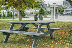 Montreal scene pinic table Royalty Free Stock Photography