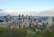 Montreal, scenic view. MONTREAL, CANADA - MAY 27, 2016 : Scenic view of spring downtime Montreal stock photos