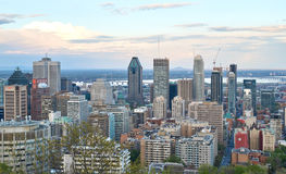 Montreal, scenic view. MONTREAL, CANADA - MAY 27, 2016 : Scenic view of spring downtime Montreal royalty free stock photo
