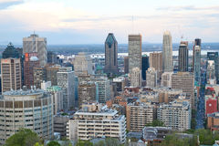 Montreal, scenic view. MONTREAL, CANADA - MAY 27, 2016 : Scenic view of spring downtime Montreal stock photo