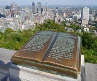Montreal sikt från monteringskunglig person Royaltyfria Foton