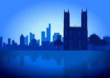 Montreal Skyline. A Vector illustration of Montreal (Canada) skyline Stock Photography