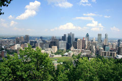 Montreal skyline Royalty Free Stock Photo