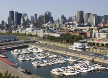 Montreal skyline, aerial view, Canada Stock Photo