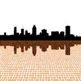 Montreal skyline with binary Stock Photos