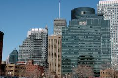 Montreal skyline downtown. Downtown skyline of Montreal quebec Stock Photography