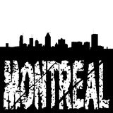 Montreal skyline grunge text Stock Photo