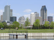 Montreal skyline, Lachine Canal. Canada stock image
