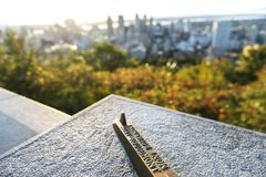 Montreal skyline from Mont Royal royalty free stock images