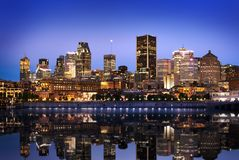 Montreal skyline from Mont Royal royalty free stock image
