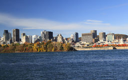 Montreal skyline and Saint Lawrence River in autumn, Quebec. Canada stock images