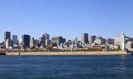 Montreal skyline and Saint Lawrence River in autumn, Quebec Stock Photo