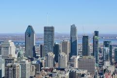 Montreal Skyline in spring Stock Photos