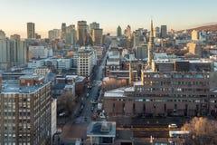 Montreal skyline at sunrise Stock Photography