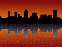 Montreal skyline at sunset Royalty Free Stock Images