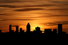 Montreal skyline at sunset Stock Photography