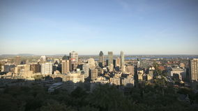 Montreal Skyline Timelapse stock video