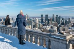 Montreal-Skyline in Winter 2018 Stockfotografie