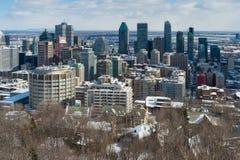 Montreal-Skyline in Winter 2016 Stockbild