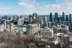 Montreal-Skyline in Winter 2016 Lizenzfreies Stockbild
