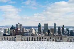 Montreal-Skyline in Winter 2016 Stockbilder