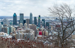 Montreal-Skyline in Winter 2016 Stockfotografie