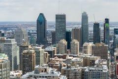 Montreal-Skyline in Winter 2016 Stockfoto