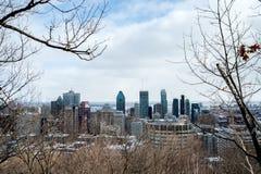 Montreal-Skyline in Winter 2016 Lizenzfreie Stockbilder