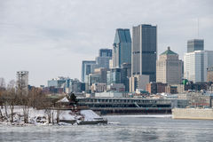 Montreal Skyline in winter from Stock Photos