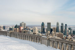 Montreal Skyline in winter Royalty Free Stock Images