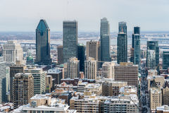Montreal Skyline in winter Royalty Free Stock Photo
