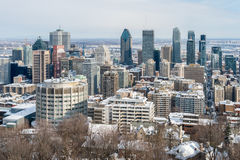 Montreal Skyline in winter Stock Photography