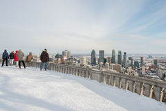 Montreal Skyline in winter Royalty Free Stock Photography