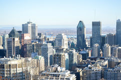 Montreal Skyline in winter. Canada royalty free stock image