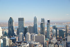 Montreal Skyline in winter Stock Images