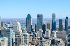 Montreal Skyline in winter. Canada stock images