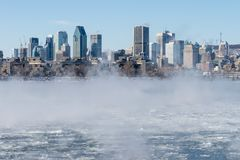 Montreal Skyline in winter stock photos