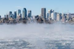 montreal skyline zimy zdjęcia stock