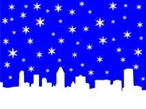 montreal skyline zimy. Obrazy Royalty Free