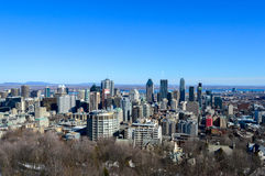 montreal skyline zimy Fotografia Royalty Free