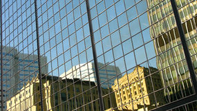 Montreal skyscraper reflection Royalty Free Stock Images