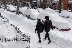 Montreal snöstorm i Januari 2018 Royaltyfria Bilder