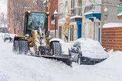 Montreal snöstorm i Januari 2018 Royaltyfri Foto
