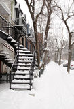 Montreal snow storm Royalty Free Stock Photography