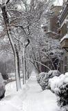 Montreal snow storm Stock Image